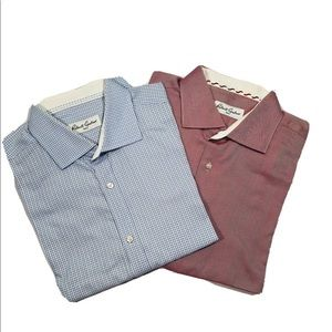 Lot of 2 Robert Graham men's Shirts XL - 17 -43